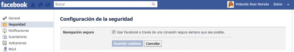 ESET España - HTTPS en Facebook