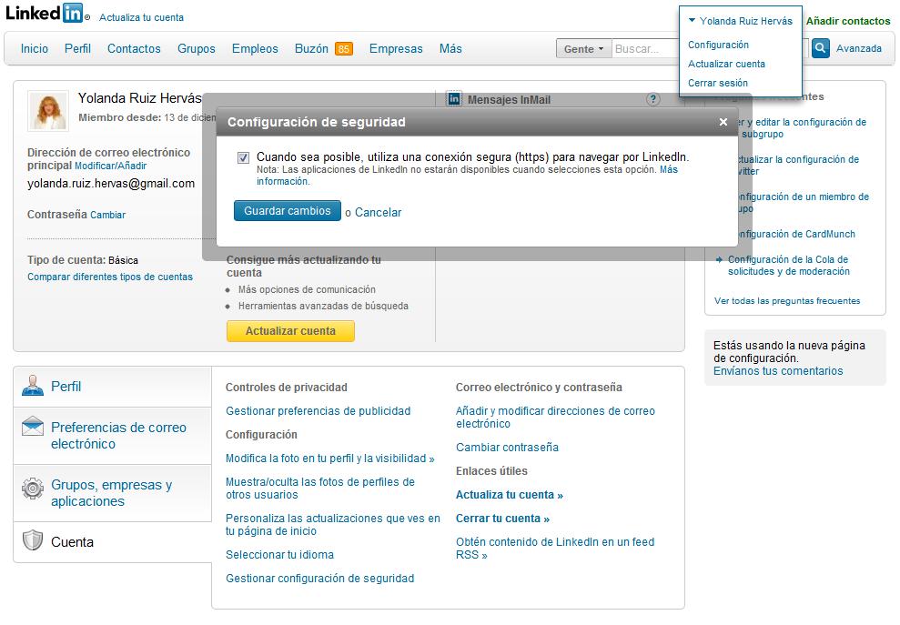ESET España - HTTPS en Linkedin