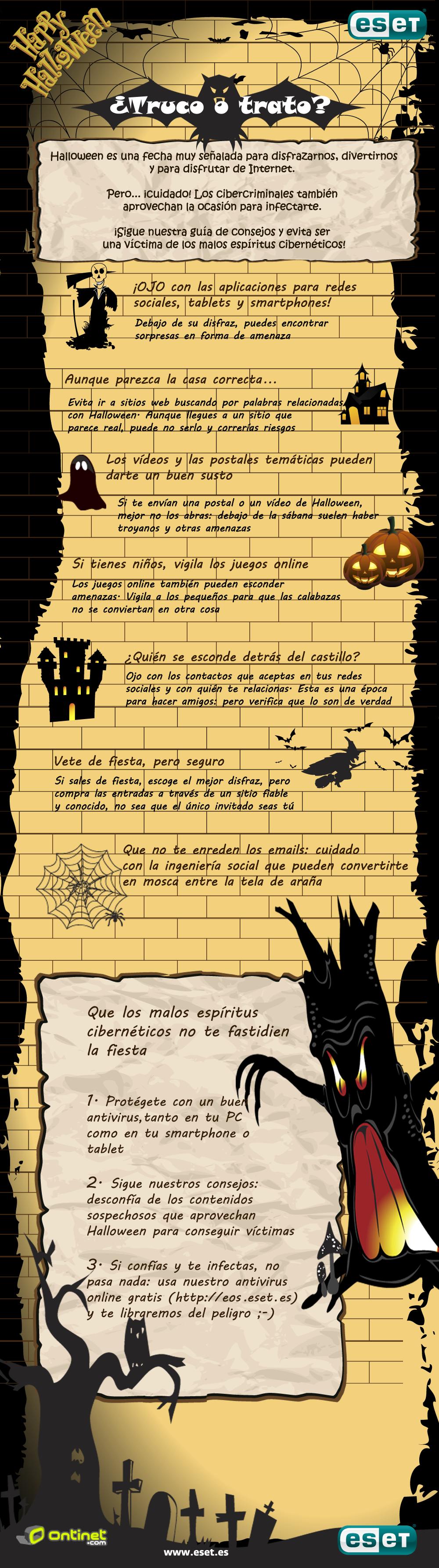 ESET España NOD32 Antivirus - Consejos de seguridad para un Halloween seguro