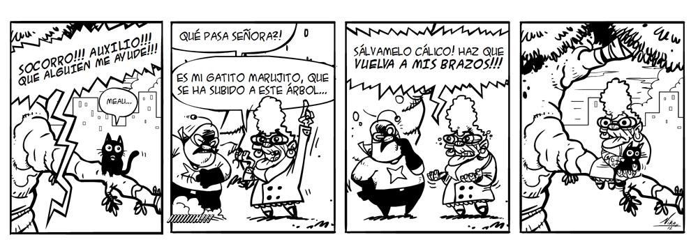 ESET España NOD32 Antivirus - Tira cálico electrónico humor seguridad 22