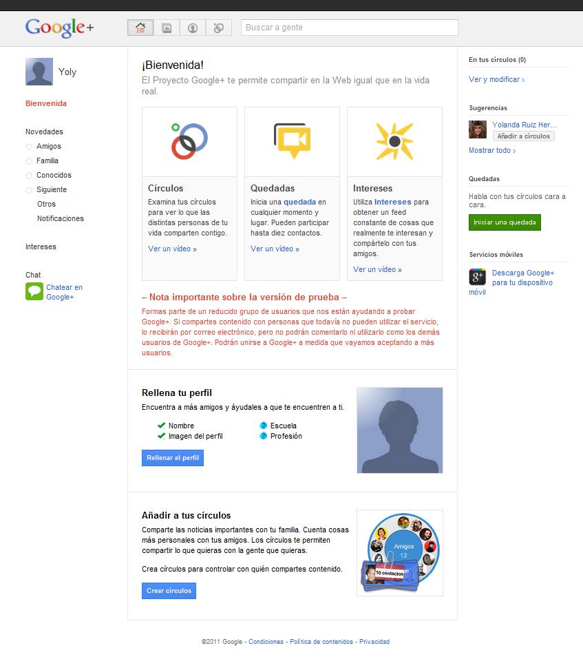 Google+, privacidad y seguridad