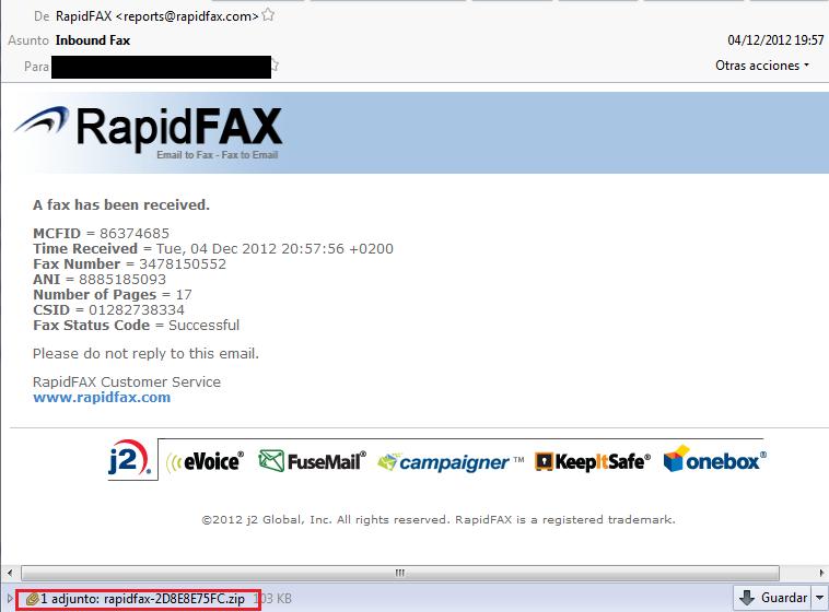 Mas Correos De Falsos Faxes Siguen Propagando Malware Protegerse