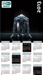 ESET NOD32 Antivirus Calendario 2013