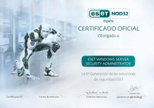 ESET NOD32 España Programa de Certificaciones de Canal