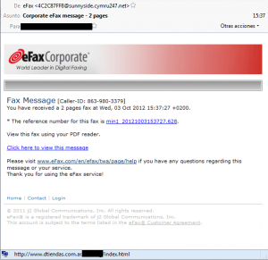 ESET NOD32 España - Spam de falso Fax digital distribuye malware
