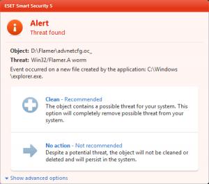 ESET España - ESET NOD32 Antivirus detecta Flamer