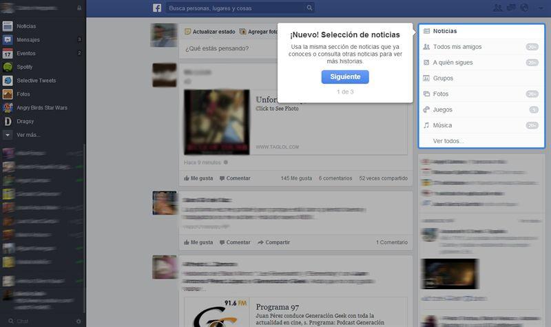 eset nod32 cambios timeline facebook