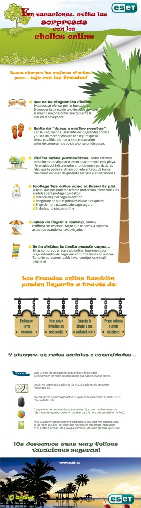 ESET España - Ontinet.com - Infografía para evitar el fraude online - Consejos de seguridad veraniegos